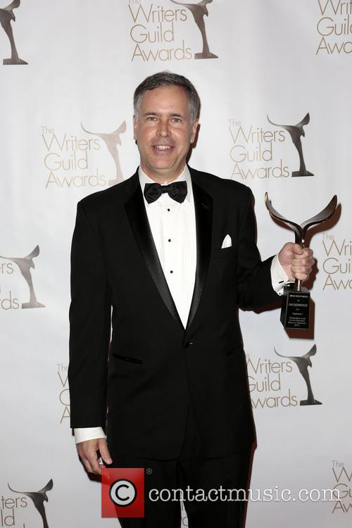 Writer Dan Greenberger and winner of the Writers Guild Award for Outstanding Script On-Air Promotion (Radio or Television) 2