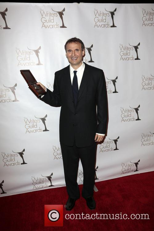 Writer Phil Rosenthal Poses With The Writers Guild Valentines Davies Award 3