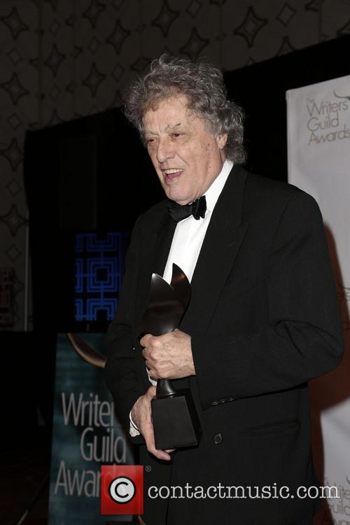 writer tom stoppard poses with the laurel 3510915