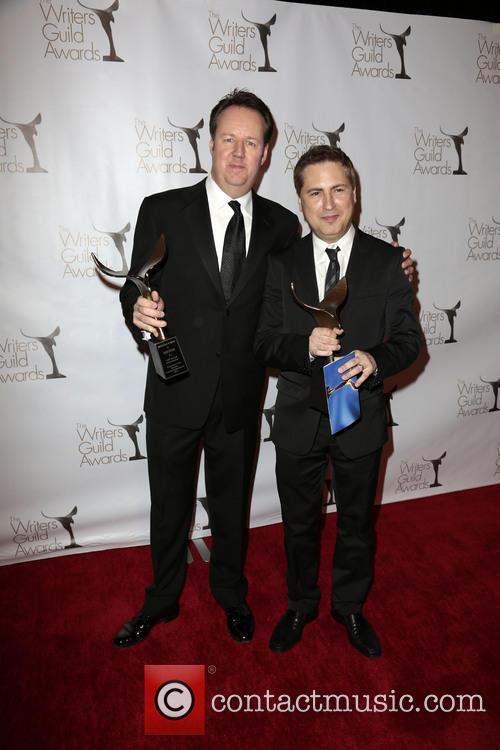 Writers Dave Boone, Paul Greenberg, winners of the Writers Guild Award for Outstanding Script Television and Comedy/Variety Specials 2
