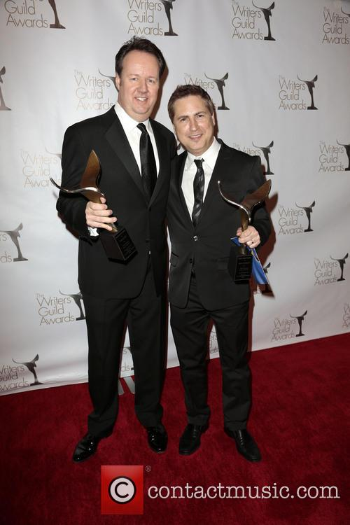 Writers Dave Boone, Paul Greenberg, winners of the Writers Guild Award for Outstanding Script Television and Comedy/Variety Specials 3