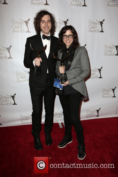 Writers Jonathan Krisel, Karey Dornetto, Winners Of The Writers Guild Award For Outstanding Script Television and Comedy/variety Series 1