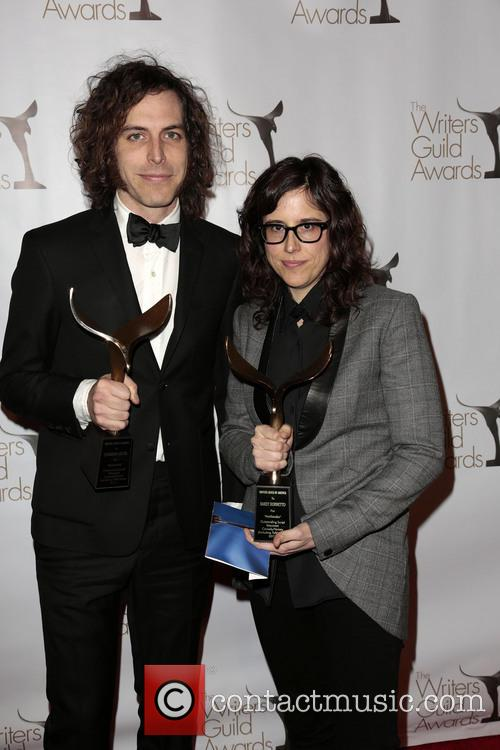 Writers Jonathan Krisel, Karey Dornetto, Winners Of The Writers Guild Award For Outstanding Script Television and Comedy/variety Series 3
