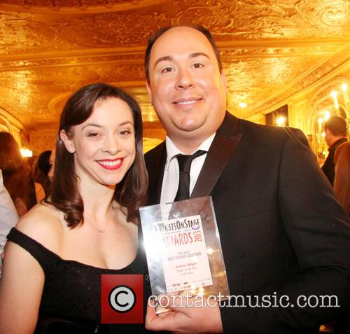 andrew wright gemma fuller whatsonstagecom awards 2013 at 3509975