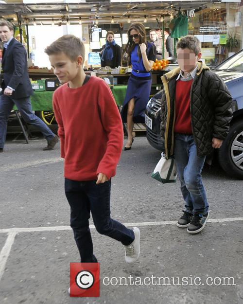 romeo beckham the beckham family arrive at a 3510690