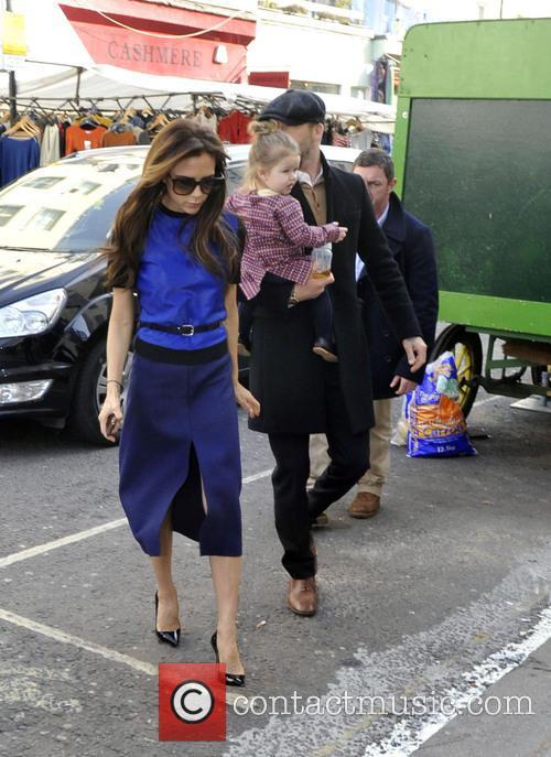 Victoria Beckham, David Beckham and Harper Beckham 9