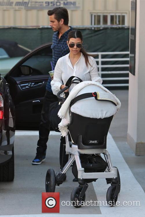 Kourtney Kardashian, Scott Disick and Penelope Disick 3