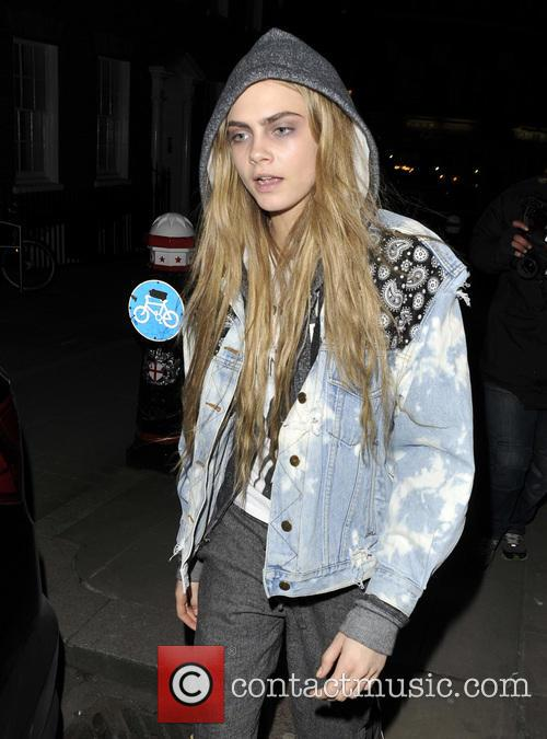 Cara Delevingne at A West London Pub