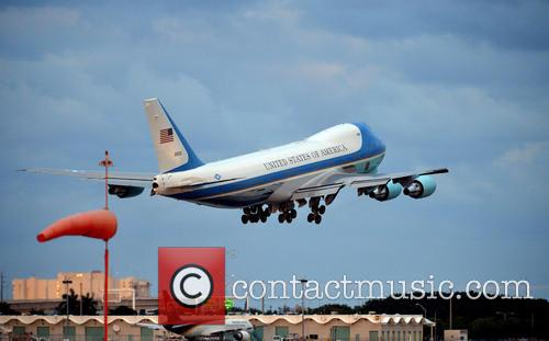 Barack Obama and Air Force Takes Off At 5:52 Pm At Palm Beach International Airport 10