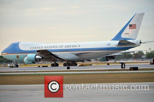 Barack Obama, Air force takes off at 5:52 pm at Palm Beach International Airport, Palm Beach International Airport