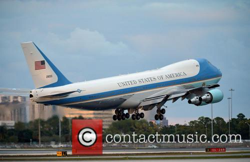 Barack Obama and Air Force Takes Off At 5:52 Pm At Palm Beach International Airport 1