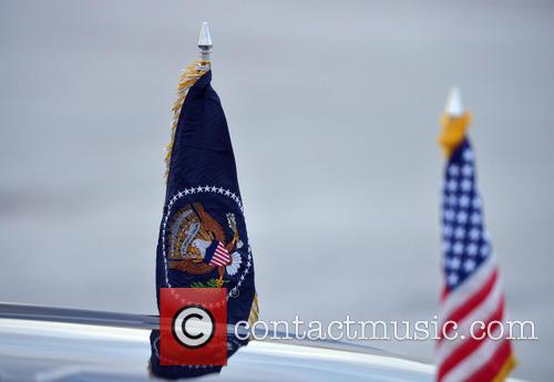 Barack Obama, The presidential flag, Palm Beach International Airport