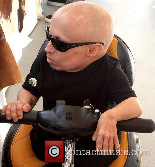 Verne Troyer out in Beverly Hills
