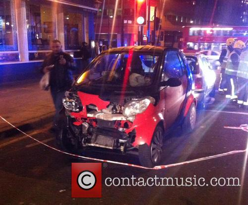 A London taxi driver had a miraculous escape, after a car jumped a red light on the Euston Road
