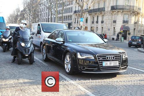 David Beckham seen driving around Paris