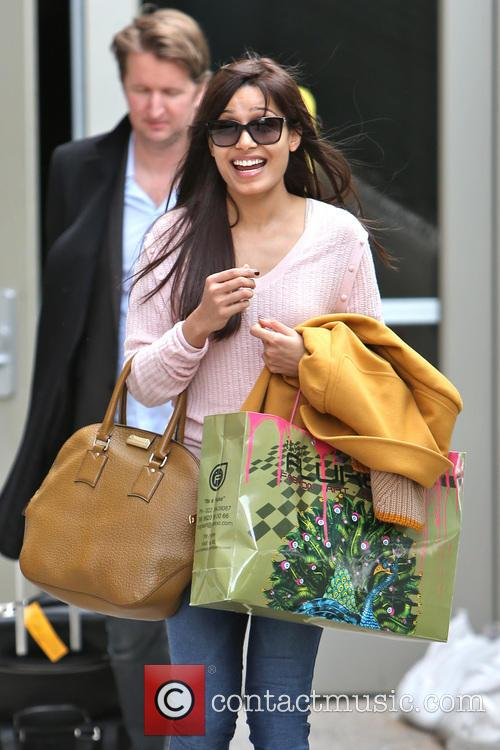Freida Pinto is seen arriving at LAX Airport...