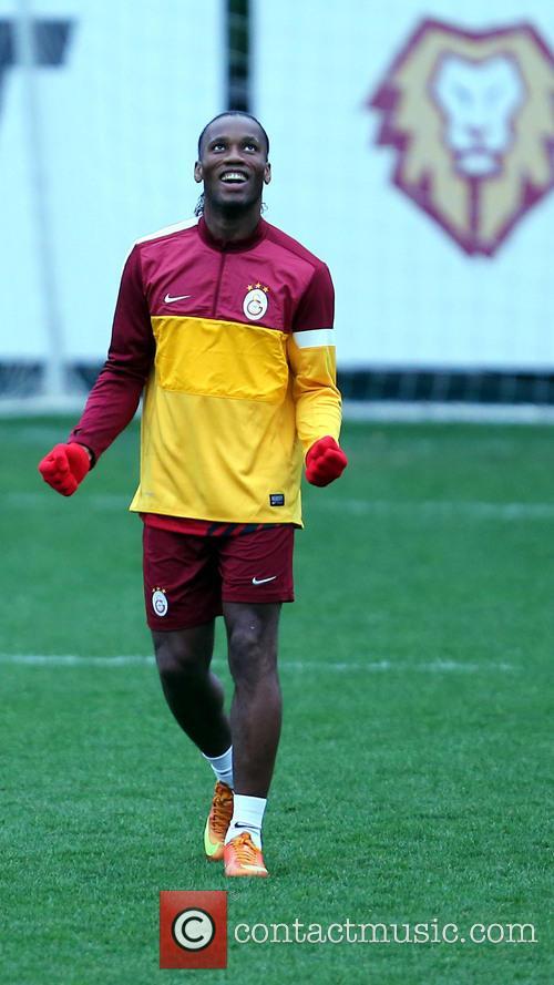 Galatasaray football players seen training