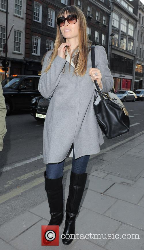 Jessica Biel seen shopping on Bond Street