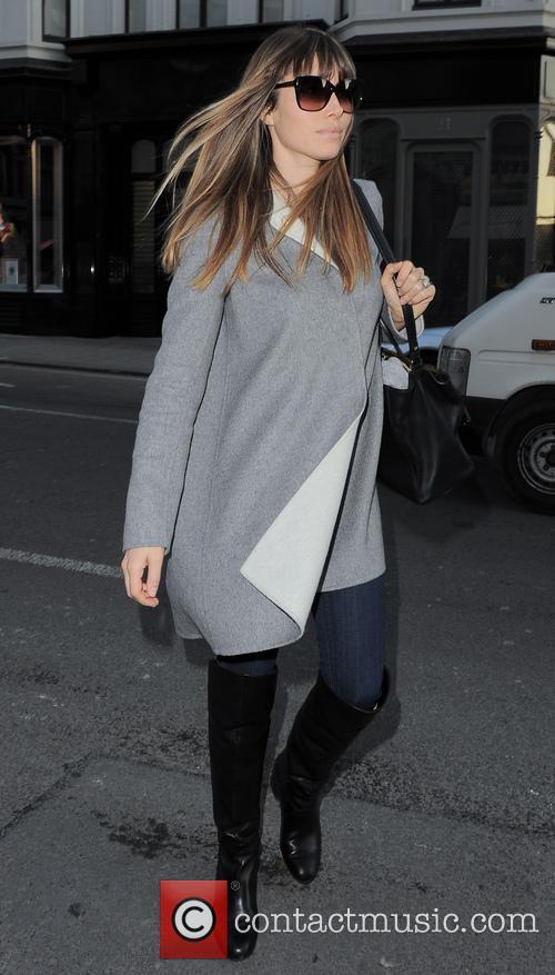 Jessica Biel seen shopping on Bond Street