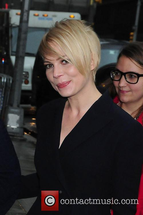 Michelle Williams arrives at the Ed Sullivan Theater