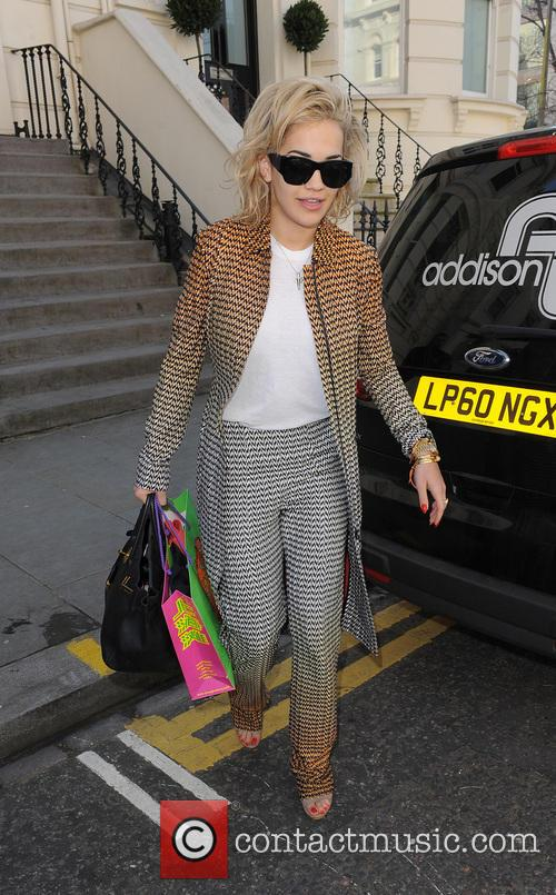 Rita Ora leaves a house party in Notting Hill