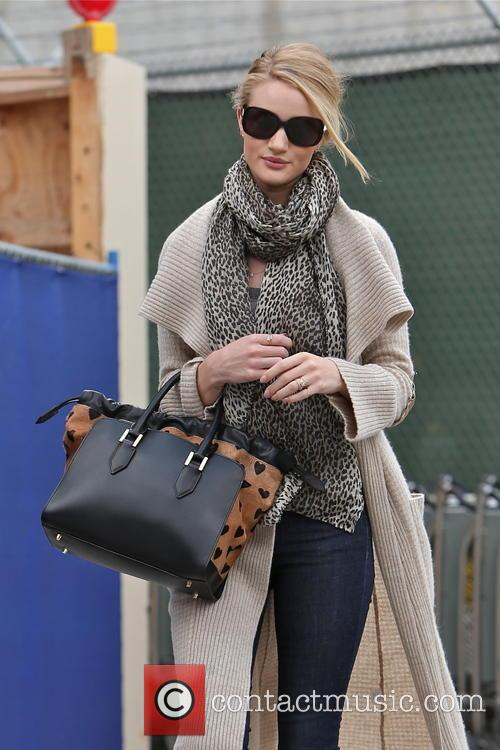 Rosie Huntington-Whiteley seen arriving at LAX airport from London.
