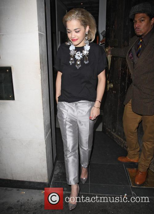 rita ora celebrities at hix restaurant in 3514100