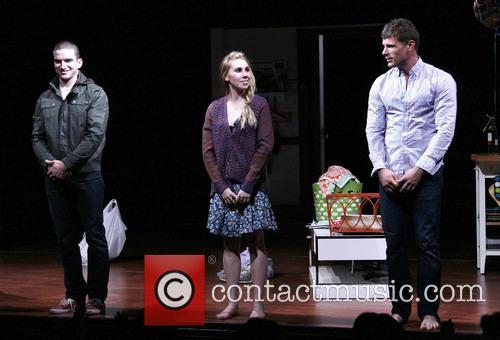 Evan Jonigkeit, Zosia Mamet and Matt Lauria 1