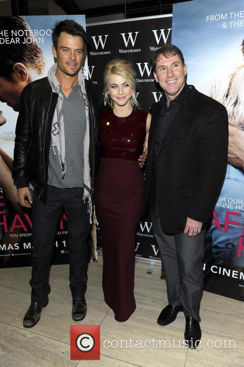 Josh Duhamel, Julianne Hough and Nicholas Sparks 4