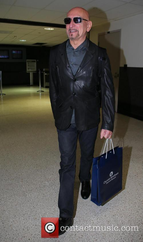 Sir Ben Kingsley arrives at LAX airport