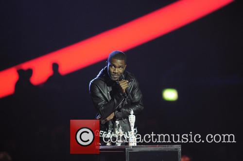 Frank Ocean onstage at the 2013 Brit Awards