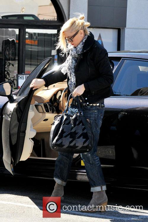 Gwen Stefani is seen leaving a nail salon...