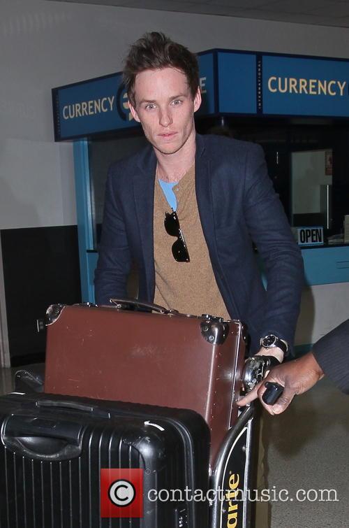 Eddie Redmayne arrives at LAX airport