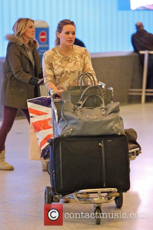 Hilary Duff seen arriving at LAX airport