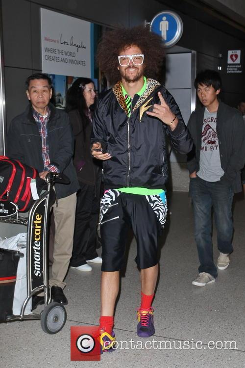 Redfoo arrives at LAX airport
