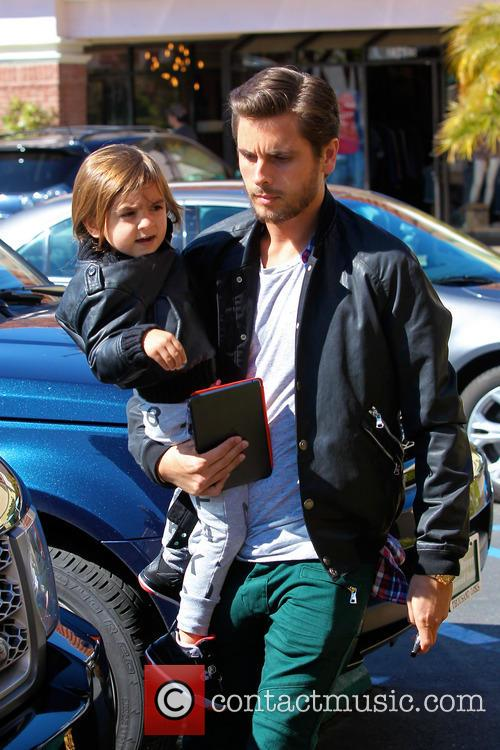 Scott Disick and his son Mason have lunch...