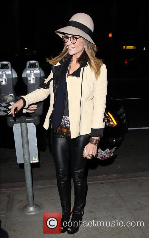 Brooke Mueller arriving at Dan Tanas