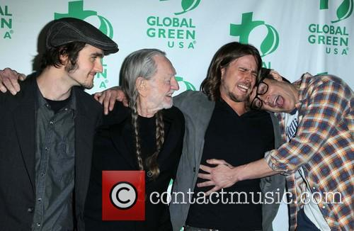 Jacob Micah Nelson, Willie Nelson, Lukas Nelson and Johnny Knoxville 3