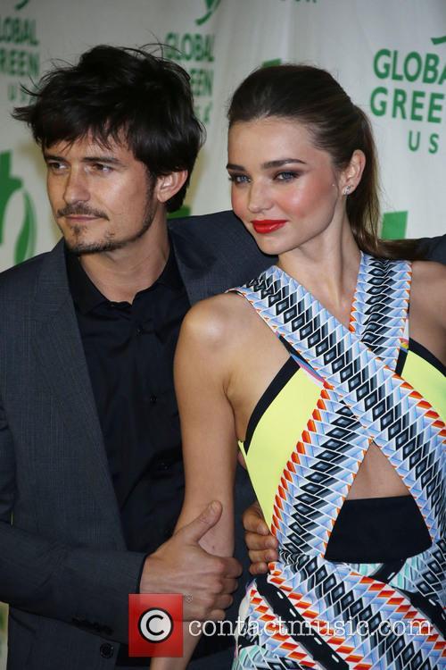 Orlando Bloom and Miranda Kerr at Global Green USA pre-Oscar party