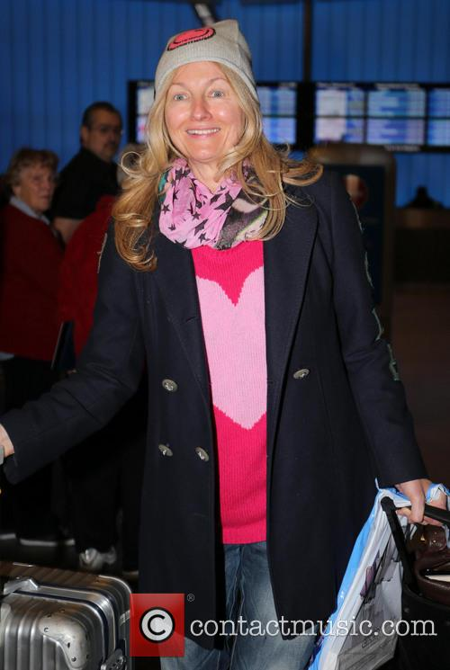 Frauke Ludowig seen arriving at LAXAirport on a...