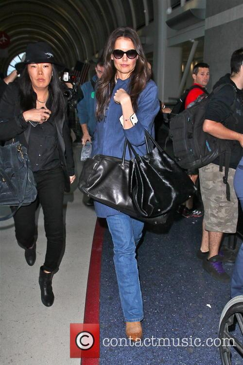 Katie Holmes arriving at LAX airport