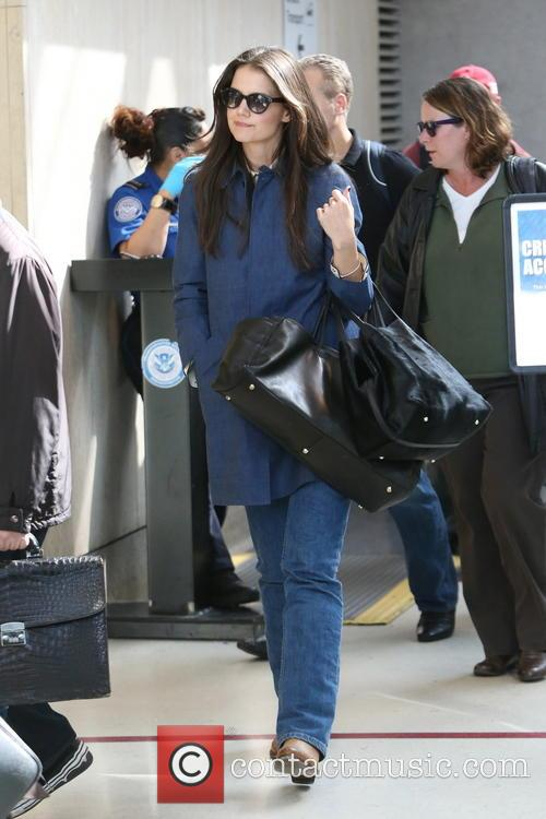 Katie Holmes arrives at LAX airport
