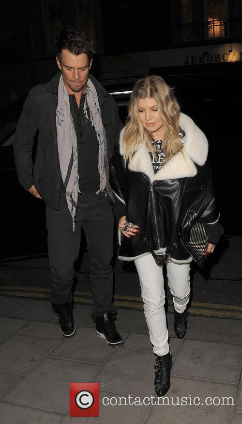 Josh Duhamel Fergie in London