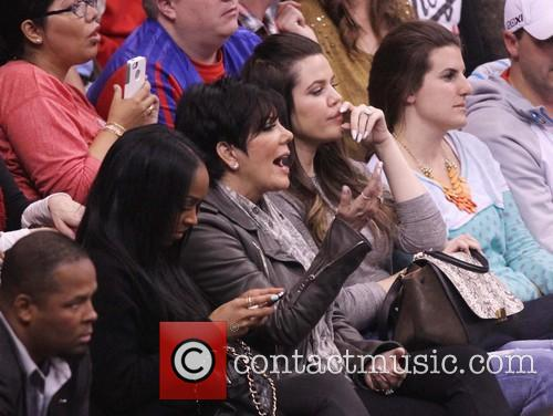 Celebrities attend the LA Clippers vs San Antonio...