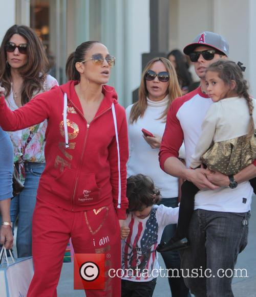 Jennifer Lopez, Casper Smart, Max Anthony and Emme Anthony 3