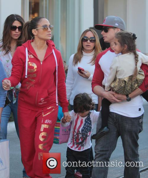 Jennifer Lopez, Casper Smart, Max Anthony and Emme Anthony 11