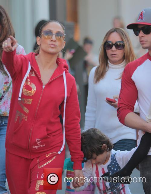 Jennifer Lopez, Casper Smart, Max Anthony and Emme Anthony 3