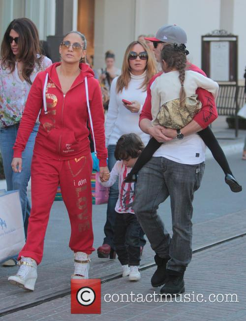 Jennifer Lopez, Maximilian Anthony, Emme Anthony and Casper Smart 7