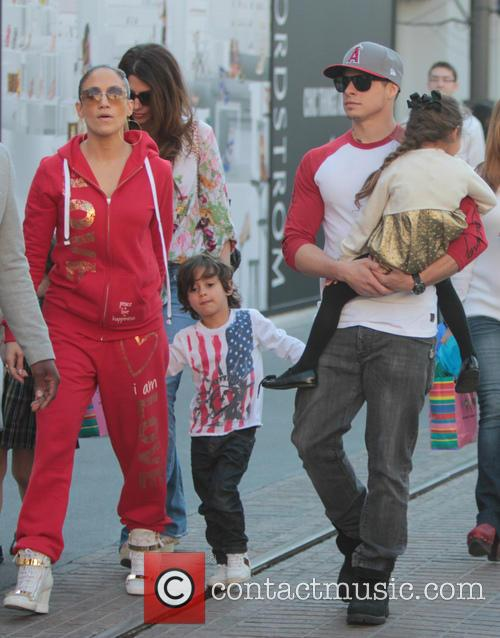 Jennifer Lopez, Maximilian Anthony, Emme Anthony and Casper Smart 1
