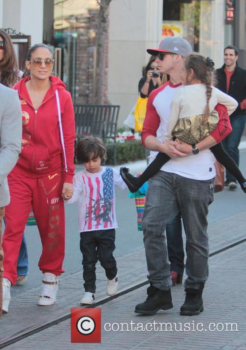 Jennifer Lopez, Maximilian Anthony, Emme Anthony and Casper Smart 14